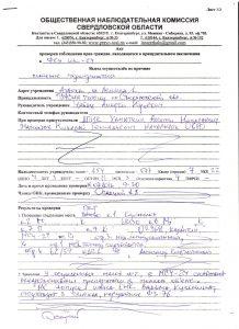 Акт проверки ФКУ ИК-24