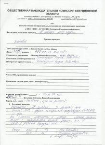 Акт проверки СИЗО-3