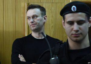 Алексей Навальный в зале российского суда