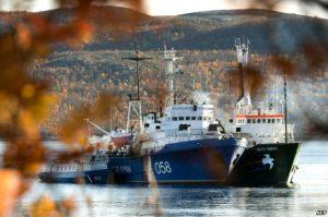 Судно Arctic Sunrise в порту российского Мурманска. Октябрь 2013 года