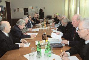 Заседание «комиссии Приставкина», декабрь 2000 года Фото: Игорь Зотин / ТАСС