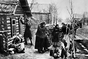 Крестьяне отправляются из деревни на заработки в город, 1901 год Фото: РИА Новости